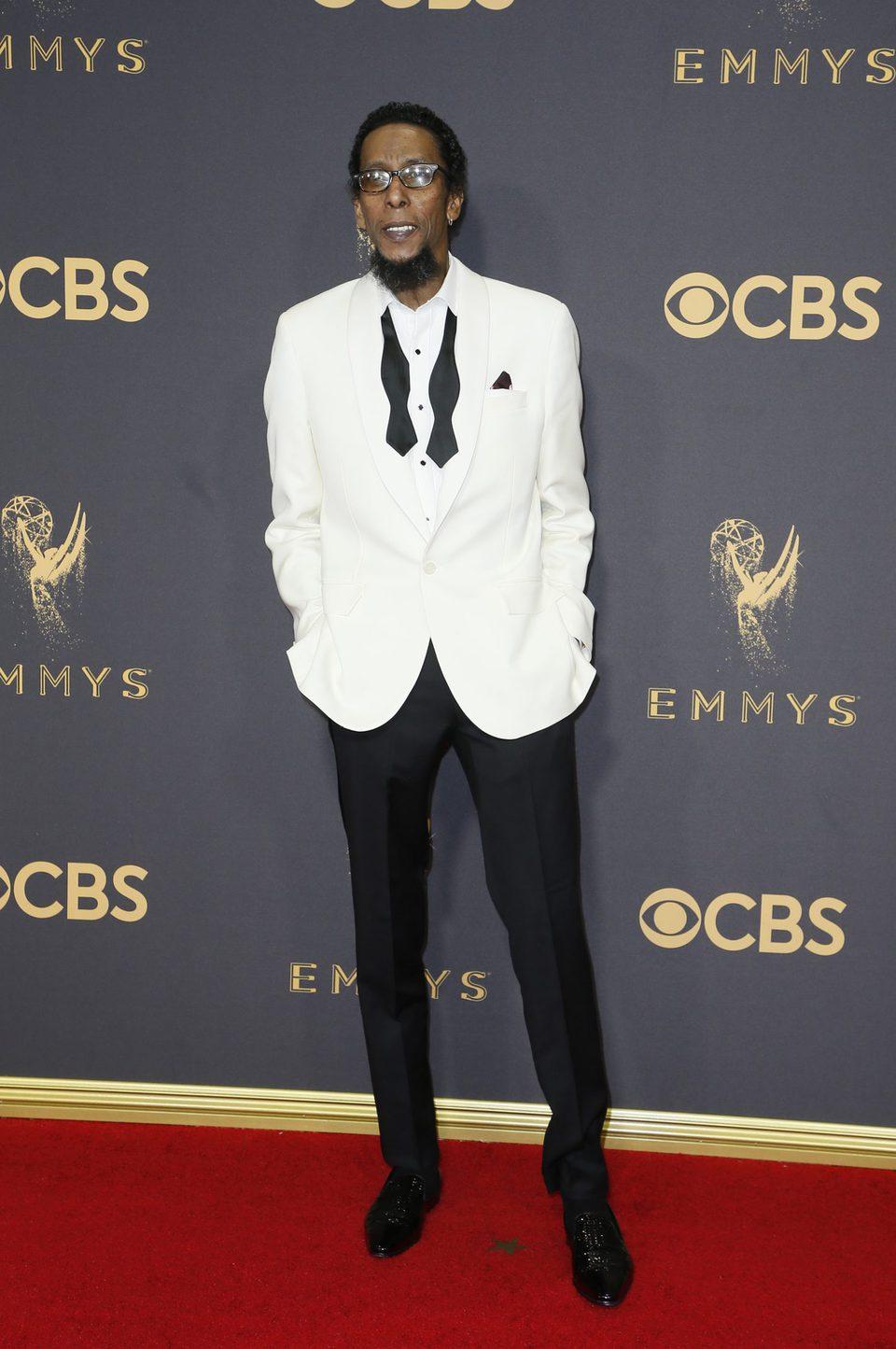 Ron Cephas Jones en la alfombra roja de los premios Emmy 2017