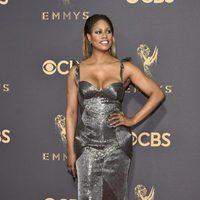 Laverne Cox en la alfombra roja de los Emmy 2017