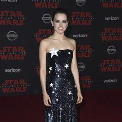 Daisy Ridley en la premiere de 'Star Wars: Los últimos Jedi'