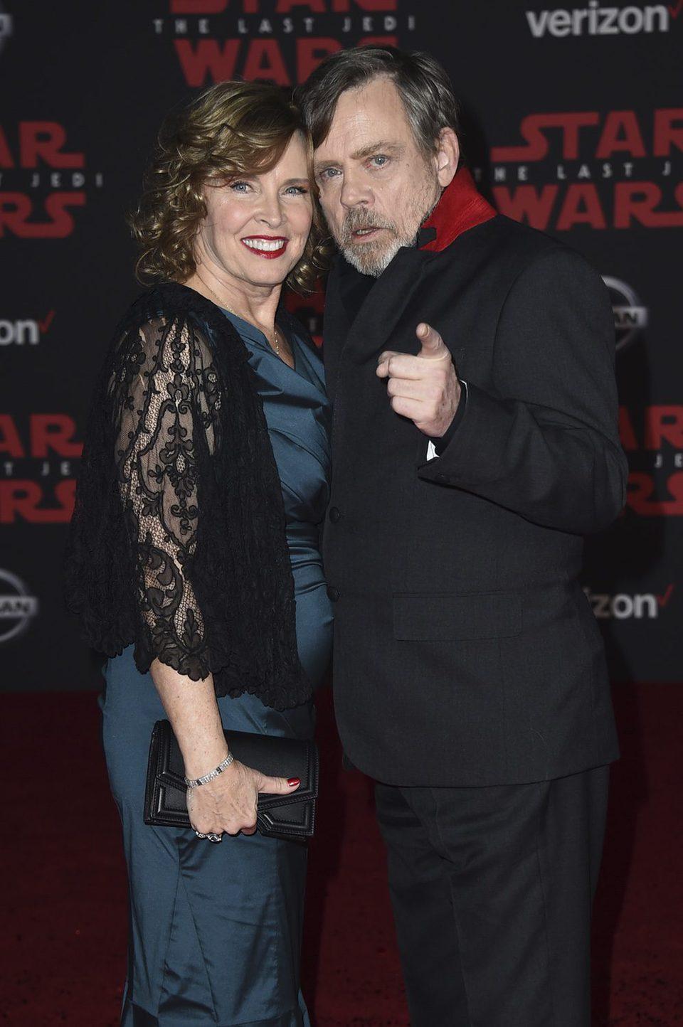 Mark Hamill y su mujer Marilou en la premiere de 'Star Wars: Los últimos Jedi'