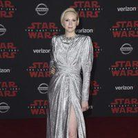 Gwendoline Christie en la premiere de 'Star Wars: Los últimos Jedi'
