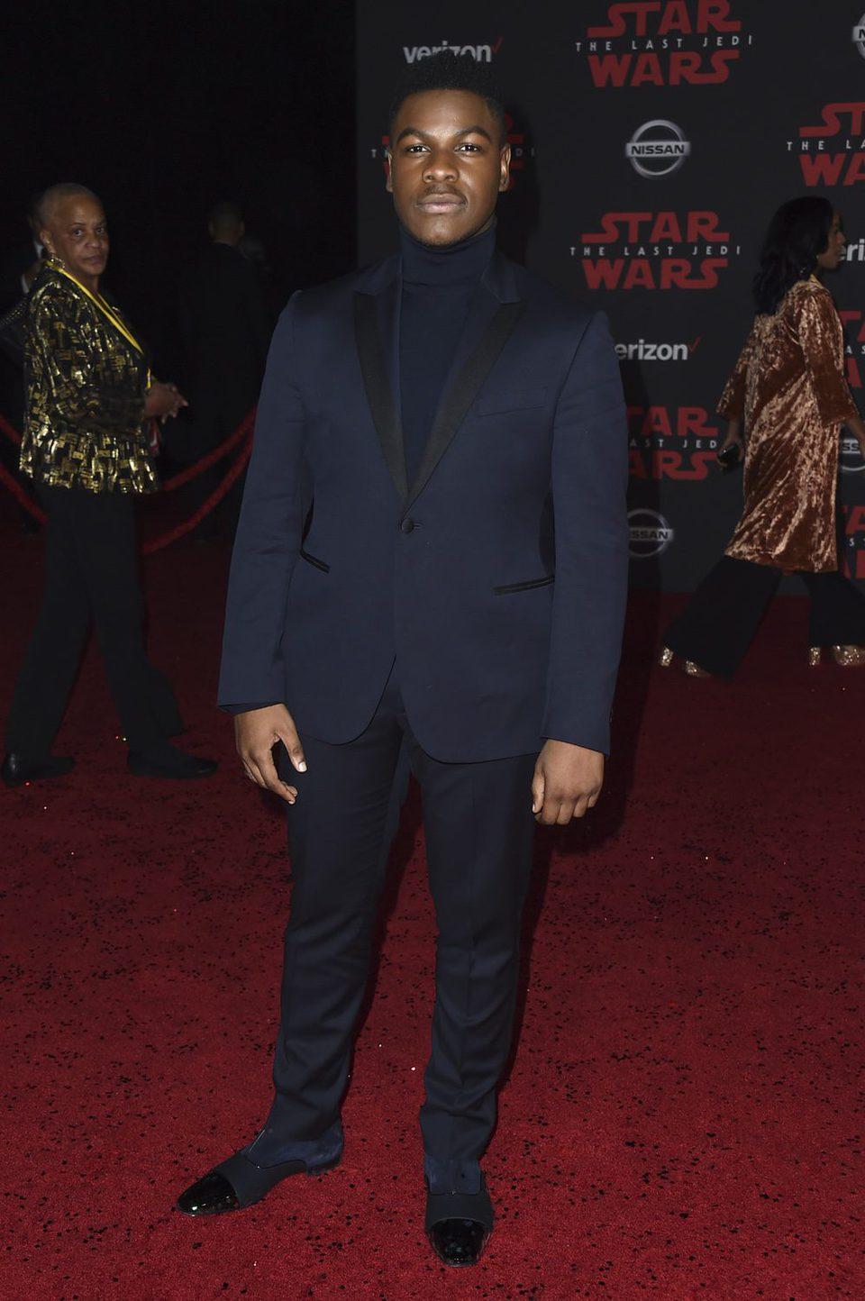 John Boyega en la premiere de 'Star Wars: Los últimos Jedi'