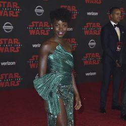 Lupita Nyong'o en la premiere de 'Star Wars: Los últimos Jedi'