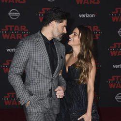 Joe Manganiello y Sofia Vergara en la premiere de 'Star Wars: Los últimos Jedi'
