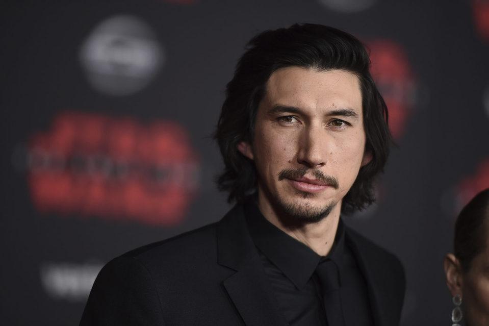 Adam Driver en la premiere de 'Star Wars: Los últimos Jedi'