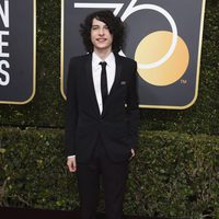 Finn Wolfhard at the Golden Globes 2018 red carpet