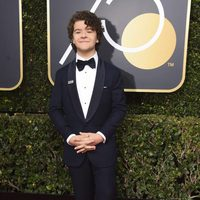 Gaten Matarazzo at the Golden Globes 2018 red carpet