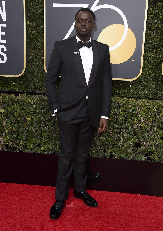 Daniel Kaluya en la alfombra roja de los Globos de oro 2018