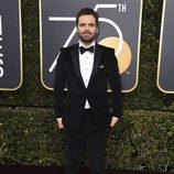 Sebastian Stan en la alfombra roja de los Globos de oro 2018