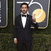 Milo Ventimiglia at the golden globe's red carpet 2018