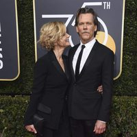 Kevin Beacon and Kyra Sedgwick at the Golden Globe's red carpet 2018