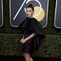 Millie Bobbie Brown at the red carpet of the Golden Globes 2018
