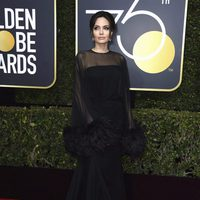Angelina Jolie at the Golden Globe's red carpet 2018