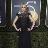 Nicole Kidman en la alfombra roja de los Globos de Oro 2018