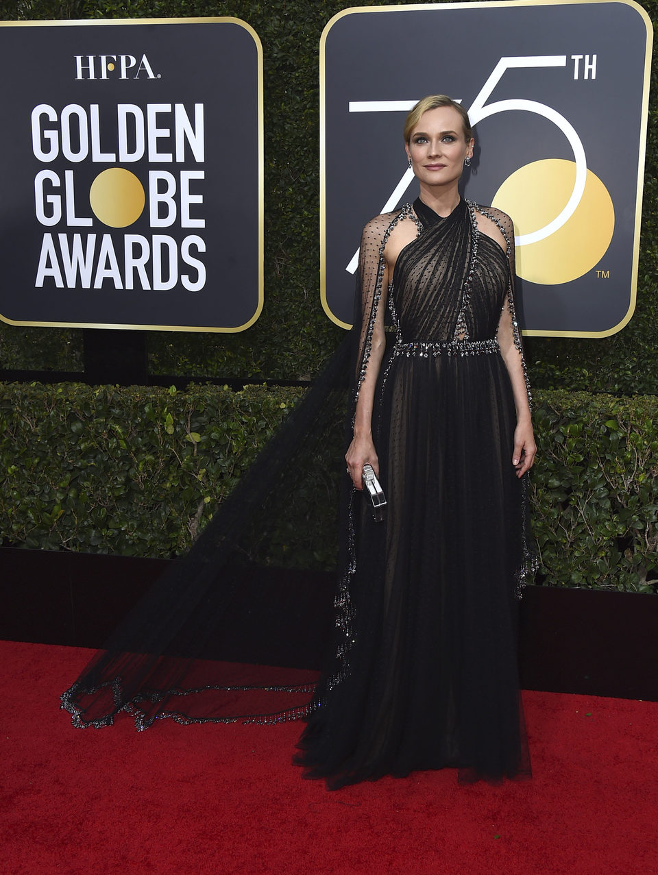 Diane Kruger en la alfombra roja de los Globos de Oro 2018
