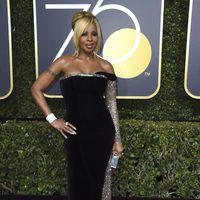 Mary J. Blige at the Golden Globes 2018 red carpet