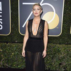 Kate Hudson en la alfombra roja de los Globos de Oro 2018