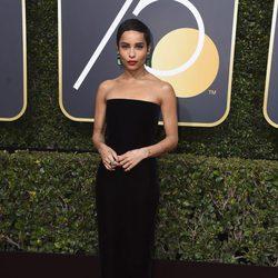 Zoe Kravitz en la alfombra roja de los Globos de Oro 2018