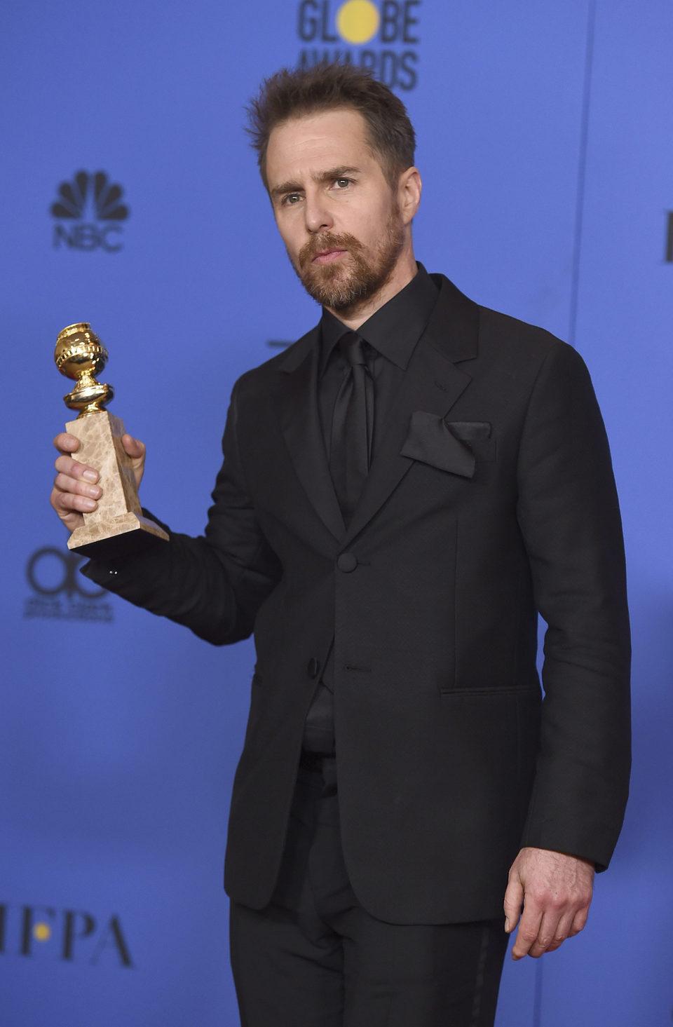 Sam Rockwell gana el Globo de Oro 2018 como Mejor Actor de Reparto