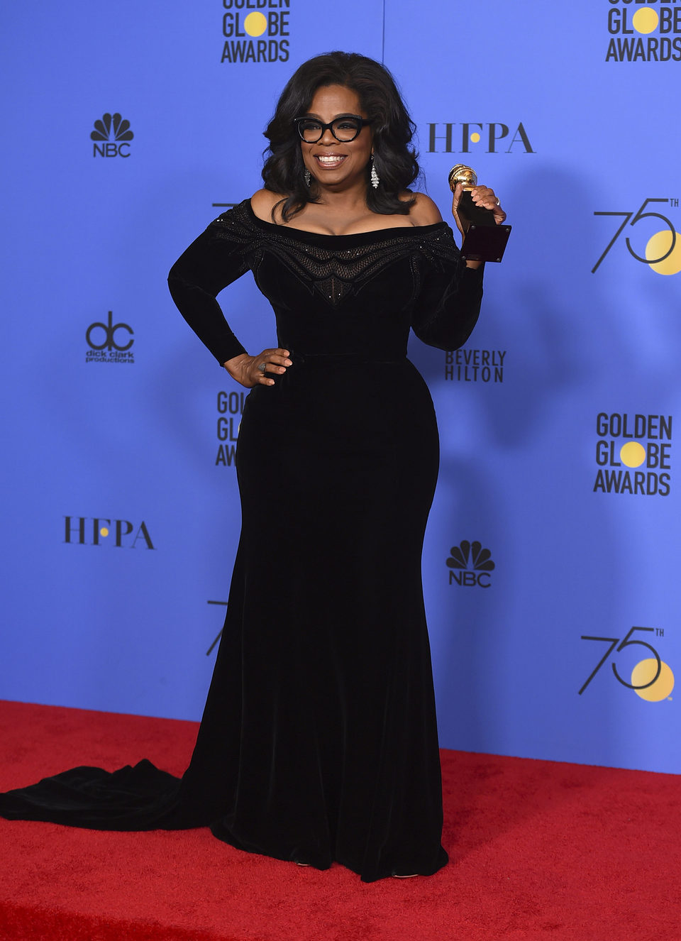 Oprah Winfrey recibe el Globo de Oro honrífico