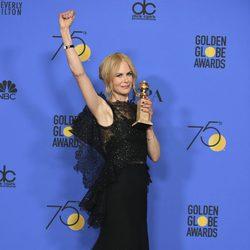 Nicole Kidman gana a Mejor actriz en Miniserie en los Globos de Oro 2018