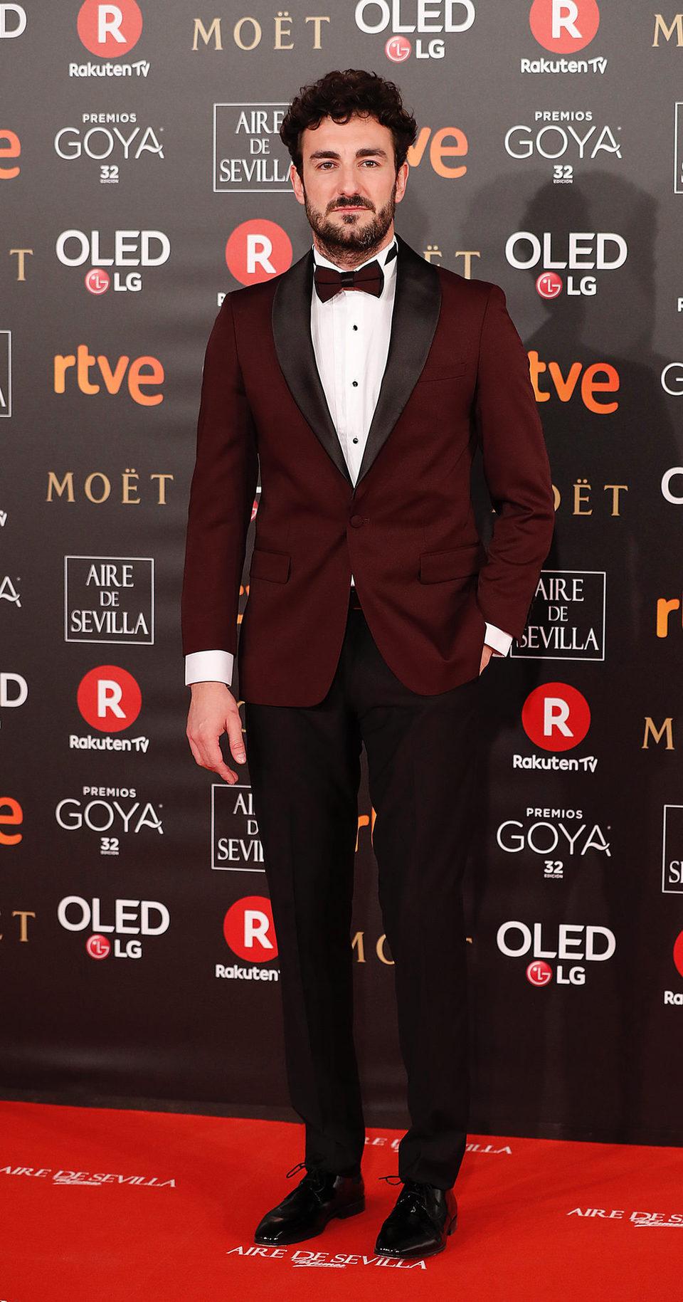 Miki Esparbé en la alfombra roja de los Goya 2018