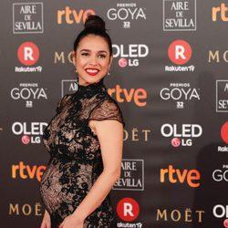 Cristina Brondo en la alfombra roja de los Premios Goya 2018
