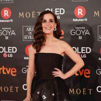 Nuria Gago en la alfombra roja de los Premios Goya 2018