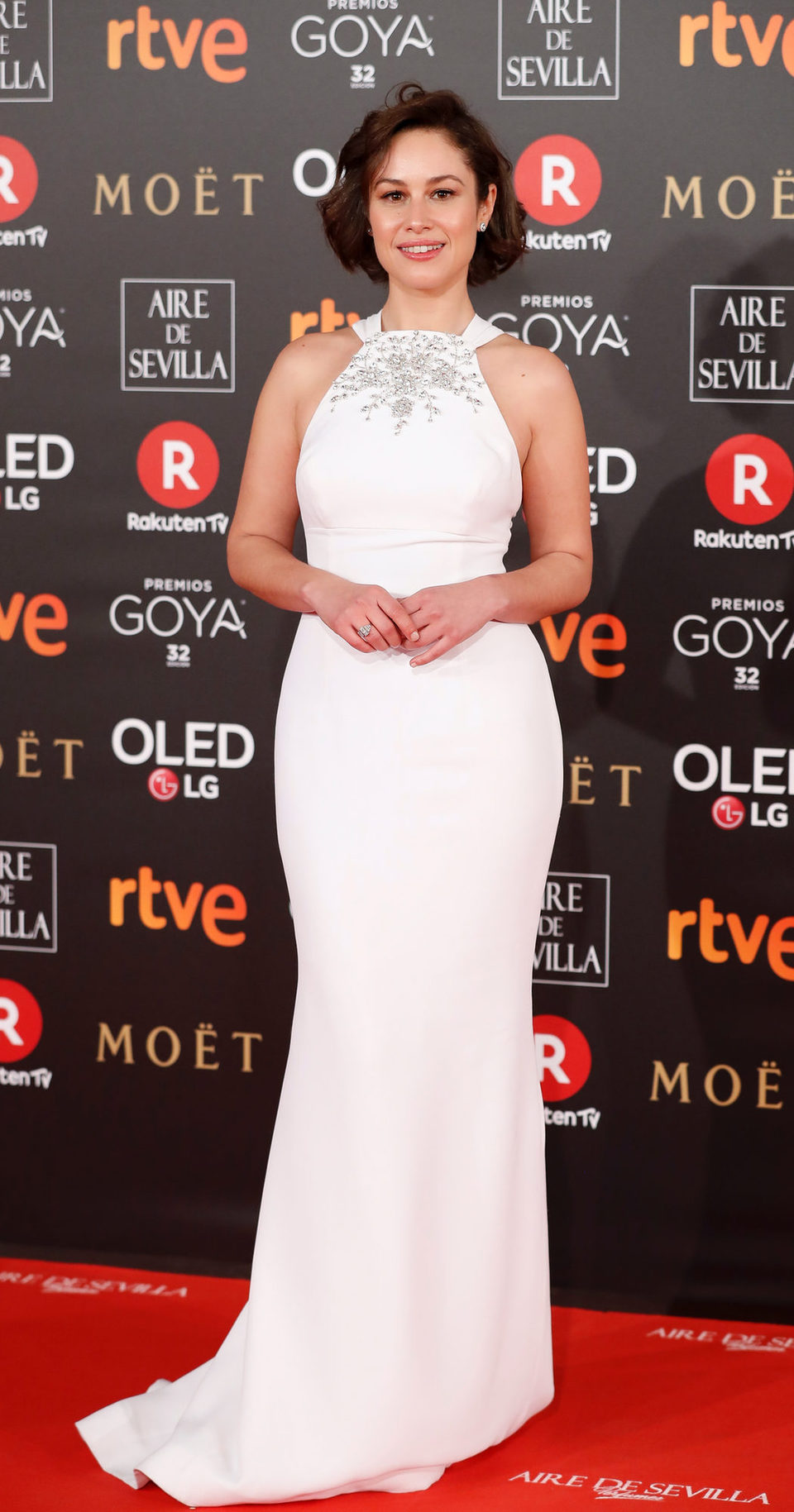 Aida Folch en la alfombra roja de los Premios Goya 2018