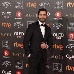 Miguel Diosdado en la alfombra roja de los Premios Goya 2018