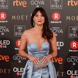 María Botto en la alfombra roja de los Premios Goya 2018