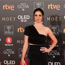 Elena Furiase en la alfombra roja de los Premios Goya 2018