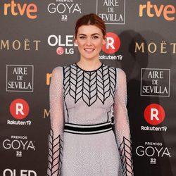 Marta Nieto en la alfombra roja de los Premios Goya 2018