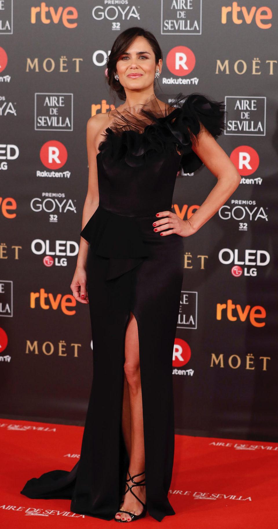 Elena Sánchez en la alfombra roja de los Premios Goya 2018