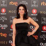 Ana Álvarez en la alfombra roja de los premios Goya 2018