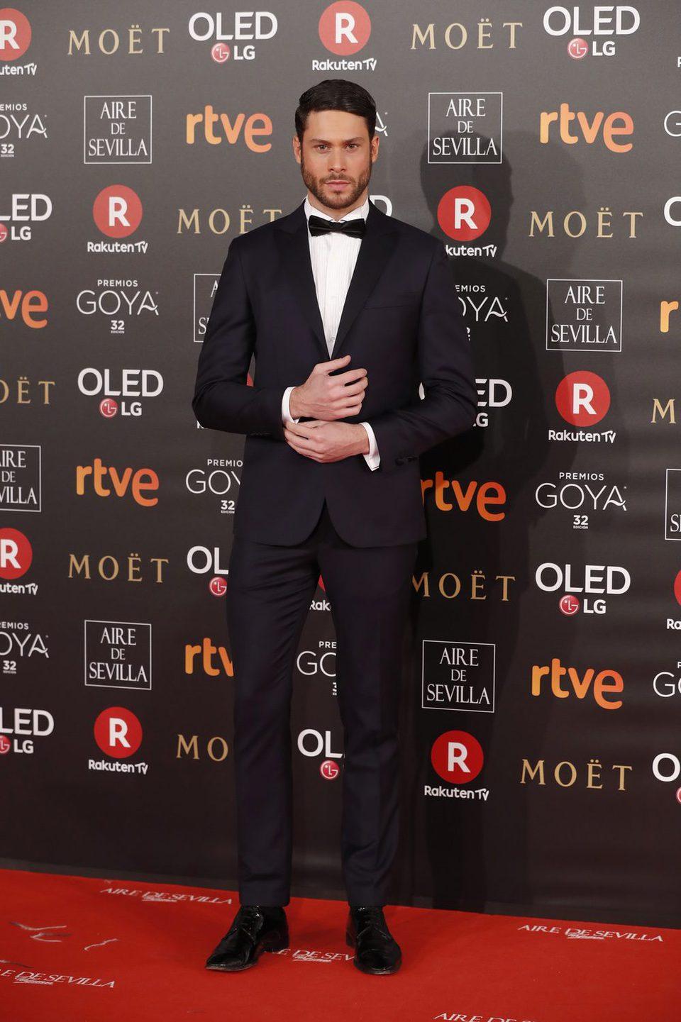 Jose Lamuño en la alfombra roja de los Premios Goya 2018