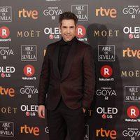 El actor Unax Ugalde en la alfombra roja de los Premios Goya 2018