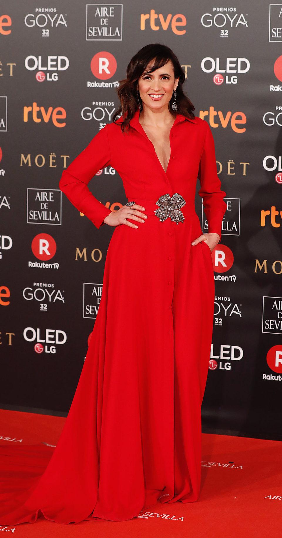 Ana Turpin en la alfombra roja de los Premios Goya 2018