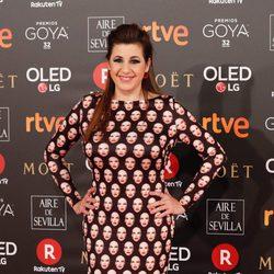 Pepa Charro en la alfombra roja de los Premios Goya 2018