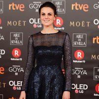 Melina Mattews en la alfombra roja de los Premios Goya 2018