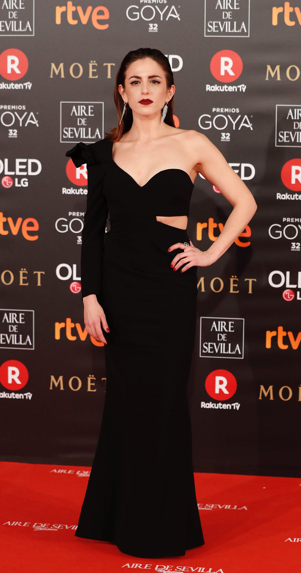 Marina Salas en la alfombra roja de los Premios Goya 2018