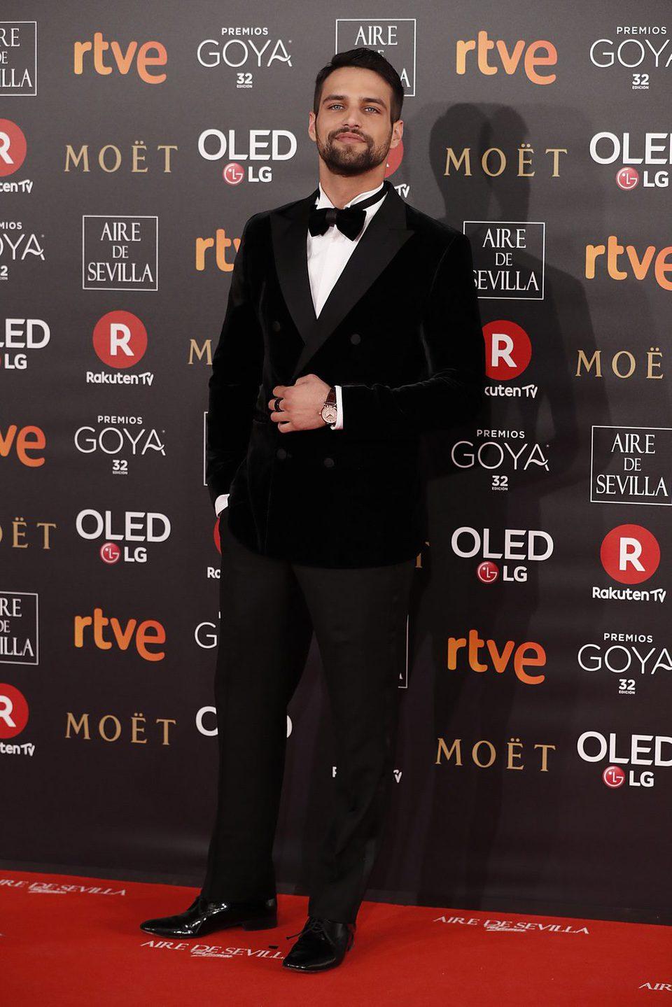 Jesús Castro en la alfombra roja de los Premios Goya 2018