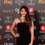 Sara Sálamo en la alfombra roja de los Premios Goya 2018