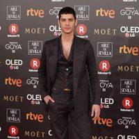 Eduardo Casanova en la alfombra roja de los Premios Goya 2018