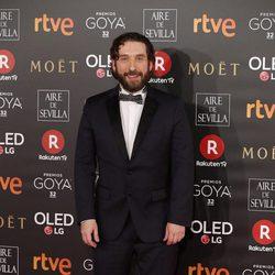 Sergio G. Sánchez en la alfombra roja de los Premios Goya 2018