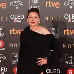 Mariola Fuentes en la alfombra roja de los Premios Goya 2018