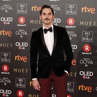 Paco León en la alfombra roja de los Premios Goya 2018