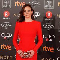 Leonor Watling en la alfombra roja de los Premios Goya 2018