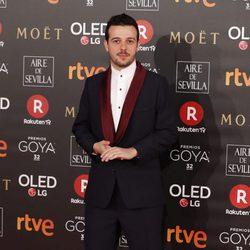 Fernando Tielve en la alfombra roja de los Premios Goya 2018