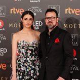 Sandra Escacena y Paco Plaza en la alfombra roja de los Premios Goya
